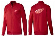 Wholesale Cheap NHL Detroit Red Wings Zip Jackets Red