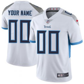 Wholesale Cheap Nike Tennessee Titans Customized White Stitched Vapor Untouchable Limited Men\'s NFL Jersey