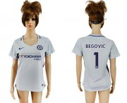 Wholesale Cheap Women's Chelsea #1 Begovic Away Soccer Club Jersey