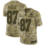 Wholesale Cheap Nike Chiefs #87 Travis Kelce Camo Men's Stitched NFL Limited 2018 Salute To Service Jersey