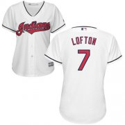 Wholesale Cheap Indians #7 Kenny Lofton White Home Women's Stitched MLB Jersey