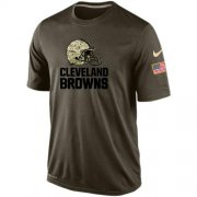 Wholesale Cheap Men's Cleveland Browns Salute To Service Nike Dri-FIT T-Shirt