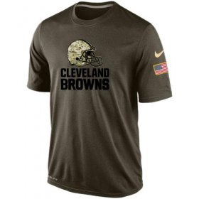 Wholesale Cheap Men\'s Cleveland Browns Salute To Service Nike Dri-FIT T-Shirt