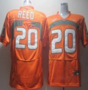 Wholesale Cheap Miami Hurricanes #20 Reed Orange Jersey
