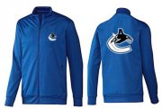 Wholesale Cheap NHL Vancouver Canucks Zip Jackets Blue-1