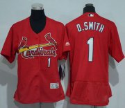 Wholesale Cheap Cardinals #1 Ozzie Smith Red Flexbase Authentic Women's Stitched MLB Jersey