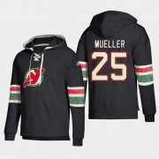 Wholesale Cheap New Jersey Devils #25 Mirco Mueller Black adidas Lace-Up Pullover Hoodie
