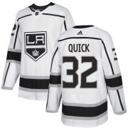 Wholesale Cheap Adidas Kings #32 Jonathan Quick White Road Authentic Stitched Youth NHL Jersey