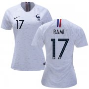 Wholesale Cheap Women's France #17 Rami Away Soccer Country Jersey