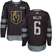 Wholesale Cheap Adidas Golden Knights #6 Colin Miller Black 1917-2017 100th Anniversary Stitched NHL Jersey