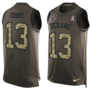 Wholesale Cheap Nike Texans #13 Brandin Cooks Green Men's Stitched NFL Limited Salute To Service Tank Top Jersey