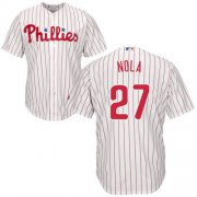 Wholesale Cheap Phillies #27 Aaron Nola White(Red Strip) Cool Base Stitched Youth MLB Jersey