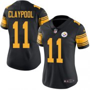 Wholesale Cheap Nike Steelers #11 Chase Claypool Black Women's Stitched NFL Limited Rush Jersey