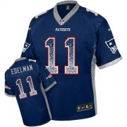Wholesale Cheap Nike Patriots #11 Julian Edelman Navy Blue Team Color Men's Stitched NFL Elite Drift Fashion Jersey