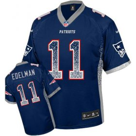 Wholesale Cheap Nike Patriots #11 Julian Edelman Navy Blue Team Color Men\'s Stitched NFL Elite Drift Fashion Jersey