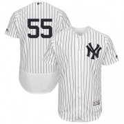Wholesale Cheap Yankees #55 Domingo German White Strip Flexbase Authentic Collection Stitched MLB Jersey