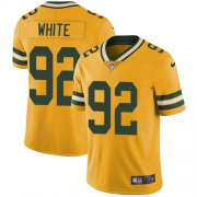 Wholesale Cheap Nike Packers #92 Reggie White Yellow Youth Stitched NFL Limited Rush Jersey