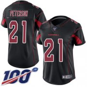 Wholesale Cheap Nike Cardinals #21 Patrick Peterson Black Women's Stitched NFL Limited Rush 100th Season Jersey