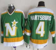 Wholesale Cheap Stars #4 Craig Hartsburg Stitched Green CCM Throwback NHL Jersey