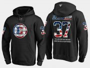 Wholesale Cheap Bruins #37 Patrice Bergeron NHL Banner Wave Usa Flag Black Hoodie