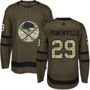 Wholesale Cheap Adidas Sabres #29 Jason Pominville Green Salute to Service Youth Stitched NHL Jersey