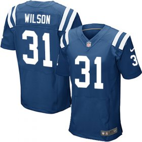 Wholesale Cheap Nike Colts #31 Quincy Wilson Royal Blue Team Color Men\'s Stitched NFL Elite Jersey