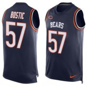 Wholesale Nike Bears #57 Jon Bostic Navy Blue Team Color Men's Stitched NFL Limited Tank Top Jersey