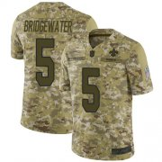 Wholesale Cheap Nike Saints #5 Teddy Bridgewater Camo Men's Stitched NFL Limited 2018 Salute To Service Jersey