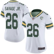 Wholesale Cheap Nike Packers #26 Darnell Savage Jr. White Women's 100th Season Stitched NFL Vapor Untouchable Limited Jersey
