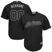 Wholesale Cheap Cleveland Indians Majestic 2019 Players' Weekend Cool Base Roster Custom Jersey Black