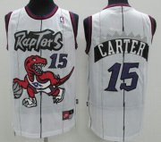 Wholesale Cheap Toronto Raptors #15 Vince Carter Hardwood Classic White Swingman Jersey