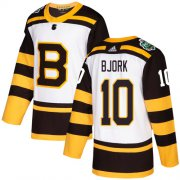Wholesale Cheap Adidas Bruins #10 Anders Bjork White Authentic 2019 Winter Classic Stitched NHL Jersey