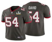 Wholesale Cheap Men's Tampa Bay Buccaneers #54 Lavonte David Grey 2021 Super Bowl LV Limited Stitched NFL Jersey