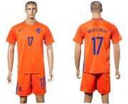 Wholesale Cheap Holland #17 Narsingh Home Soccer Country Jersey