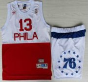 Wholesale Cheap Philadelphia 76ers #13 Wilt Chamberlain White Red Jersey Short Suits
