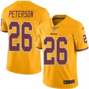 Wholesale Cheap Nike Redskins #26 Adrian Peterson Gold Men's Stitched NFL Limited Rush Jersey