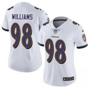 Wholesale Cheap Nike Ravens #98 Brandon Williams White Women's Stitched NFL Limited Vapor Untouchable Limited Jersey