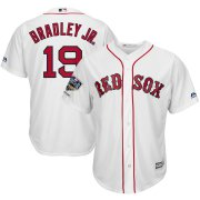 Wholesale Cheap Boston Red Sox #19 Jackie Bradley Jr. Majestic 2018 World Series Champions Home Cool Base Player Jersey White
