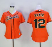 Wholesale Cheap Giants #12 Joe Panik Orange Women's Alternate Stitched MLB Jersey