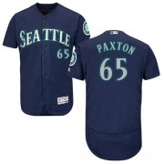 Wholesale Cheap Mariners #65 James Paxton Navy Blue Flexbase Authentic Collection Stitched MLB Jersey