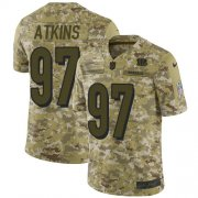 Wholesale Cheap Nike Bengals #97 Geno Atkins Camo Men's Stitched NFL Limited 2018 Salute To Service Jersey