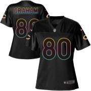Wholesale Cheap Nike Bears #80 Jimmy Graham Black Women's NFL Fashion Game Jersey
