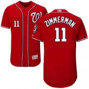 Wholesale Cheap Nationals #11 Ryan Zimmerman Red Flexbase Authentic Collection Stitched MLB Jersey