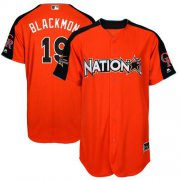 Wholesale Cheap Rockies #19 Charlie Blackmon Orange 2017 All-Star National League Stitched Youth MLB Jersey