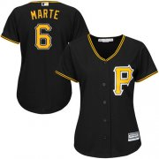 Wholesale Cheap Pirates #6 Starling Marte Black Alternate Women's Stitched MLB Jersey