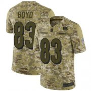 Wholesale Cheap Nike Bengals #83 Tyler Boyd Camo Youth Stitched NFL Limited 2018 Salute to Service Jersey