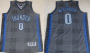 Wholesale Cheap Oklahoma City Thunder #0 Russell Westbrook Black Rhythm Fashion Jersey
