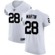 Wholesale Cheap Nike Raiders #28 Doug Martin White Men's Stitched NFL Vapor Untouchable Elite Jersey