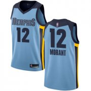 Wholesale Cheap Grizzlies #12 Ja Morant Light Blue Basketball Swingman Statement Edition Jersey