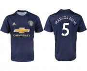 Wholesale Cheap Manchester United #5 Marcos Rojo Away Soccer Club Jersey